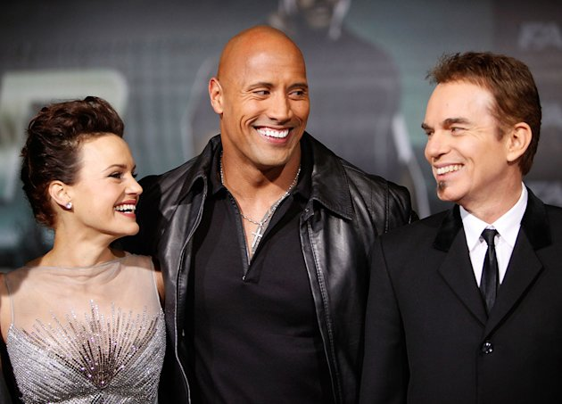 Faster LA Premiere 2010 Carla Gugino Dwayne Johnson Billy Bob Thornton