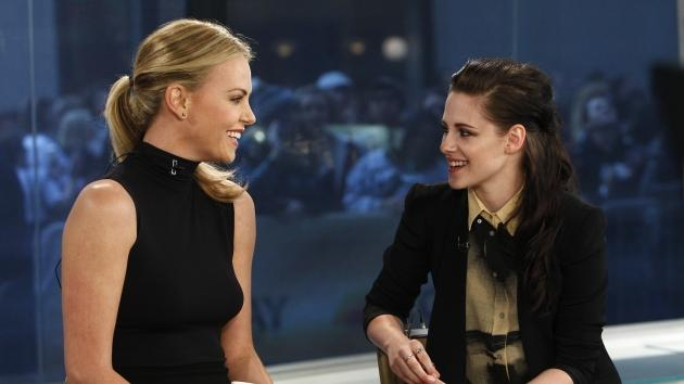 Charlize Theron and Kristen Stewart are all smiles on the set of NBC's the 'Today' show in New York City on March 19, 2012 -- Getty Images