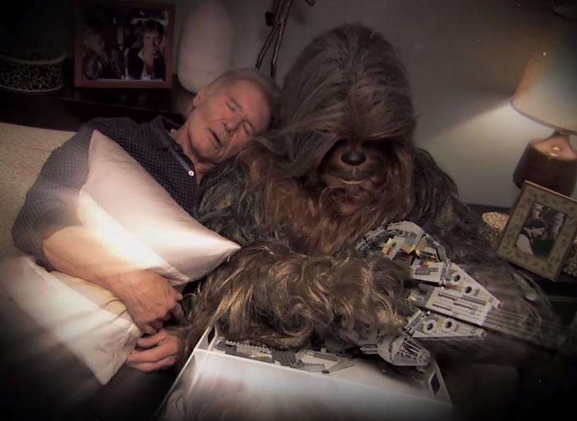 Jimmy Kimmel helps Chewbacca reconcile with Harrison Ford