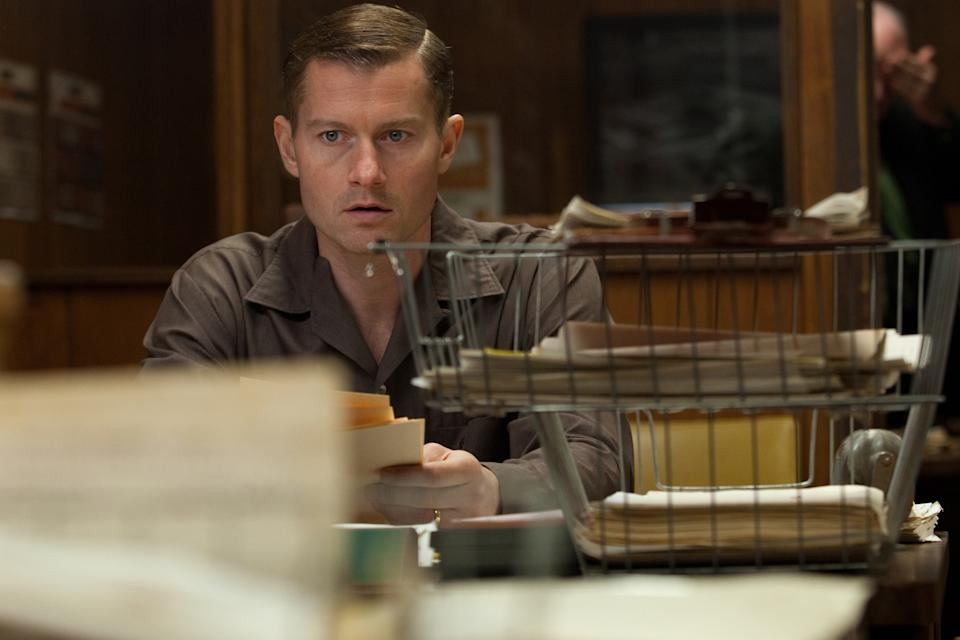 "This film image released by Exclusive Media Entertainment shows James Badge Dale as Robert Oswald in a scene from ""Parkland."" (AP Photo/ Exclusive Media Entertainment, Claire Folger)"