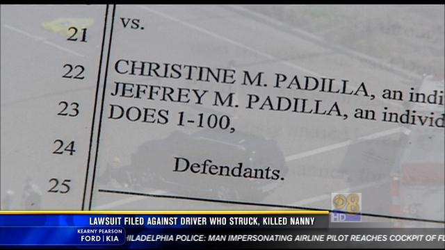 Lawsuit filed against driver who struck, killed nanny