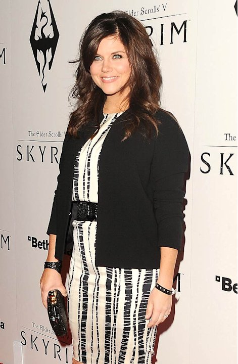 Tiffani Thiessen Elder ScrollsV Skyrim Launch Party