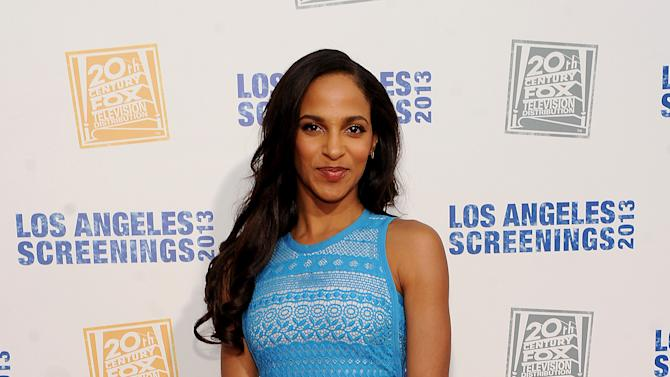 Megalyn Echikunwoke arrives at Twentieth Century Fox Television Distribution's 2013 LA Screenings Lot Party on Thursday, May 23, 2013 in Los Angeles, California. (Photo by Frank Micelotts/Invision for Twentieth Century Fox Television/AP Images)