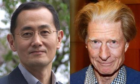 Nobel Prize winners, Kyoto University Professor Shinya Yamanaka of Japan (left) and Sir John Gurdon of Britain: The two esteemed scientists will share the $1.2 million prize for their groundbreaking research.