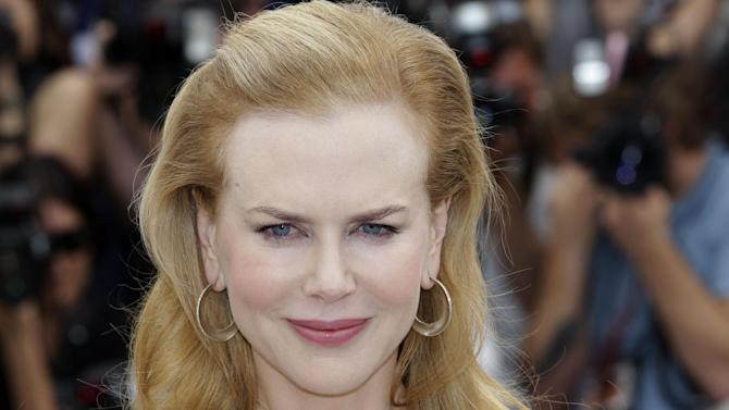 Actress Nicole Kidman poses for photographers during a photo call for Hemmingway and Gellhorn at the 65th international film festival, in Cannes, southern France, Friday, May 25, 2012. (AP Photo/Lionel Cironneau)