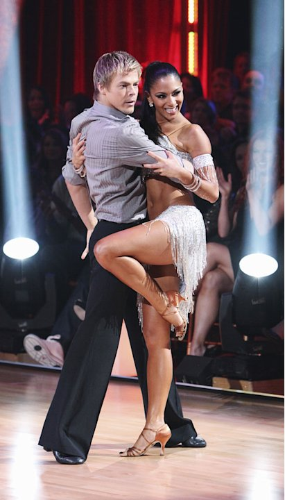 Derek Hough and Nicole Scherzinger on &quot;Dancing with the Stars.&quot; 