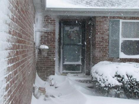 Photos: Central Indiana Blizzard Keeps Family at Home