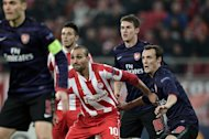 The sense of crisis enveloping the north London outfit was hardly eased in midweek when Wenger sent out a weakened team in the Champions League clash at Olympiakos and saw the Greeks come from behind to claim a 2-1 win that ended Arsenal's hopes of finishing top of their group