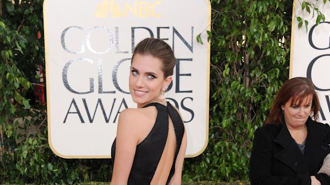 Actress Allison Williams arrives at the 70th Annual Golden Globe Awards at the Beverly Hilton Hotel on Sunday Jan. 13, 2013, in Beverly Hills, Calif. (Photo by Jordan Strauss/Invision/AP)