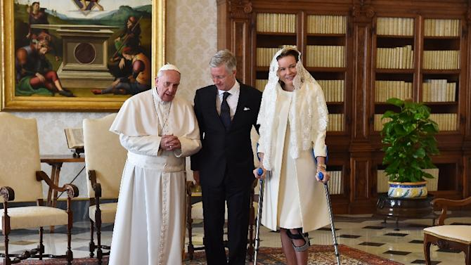 Pope King Pope Francis Speaks With King
