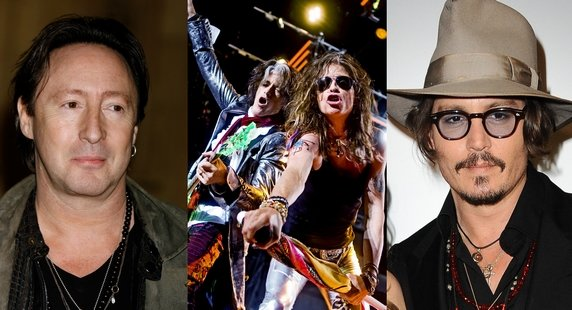 Aerosmith : Johnny Depp et Julian Lennon suivent Aerosmith