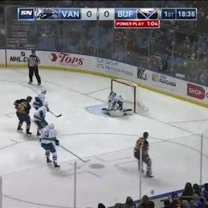 Eddie Lack Save on Zach Bogosian (01:23/1st)