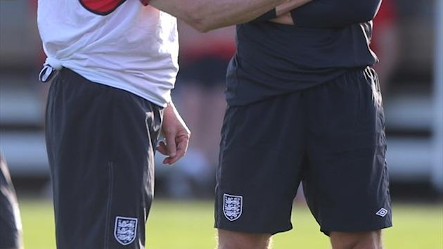 Roy Hodgson, left, hopes Frank Lampard, right, can continue his football within Europe