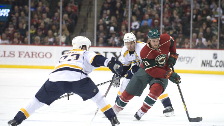 NHL: Nashville Predators at Minnesota Wild