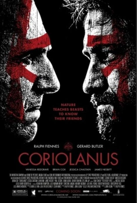 "Movie poster for Ralph Fiennes' ""Coriolanus"""