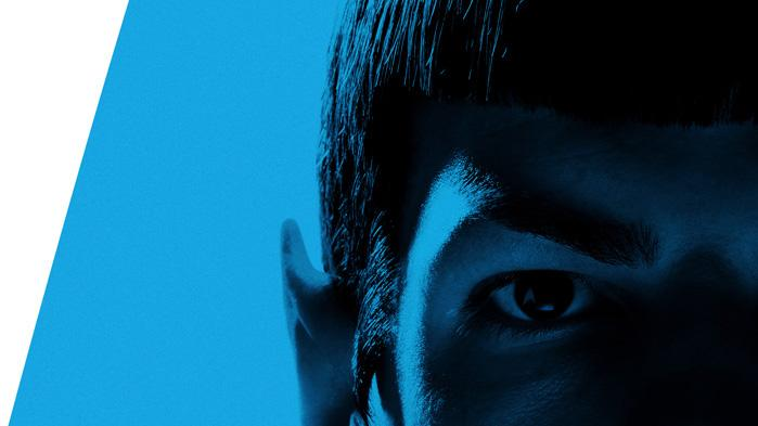 Poster Zachary Quinto Spock Star Trek Production Stills Paramount 2009 Comic-Con Reveals