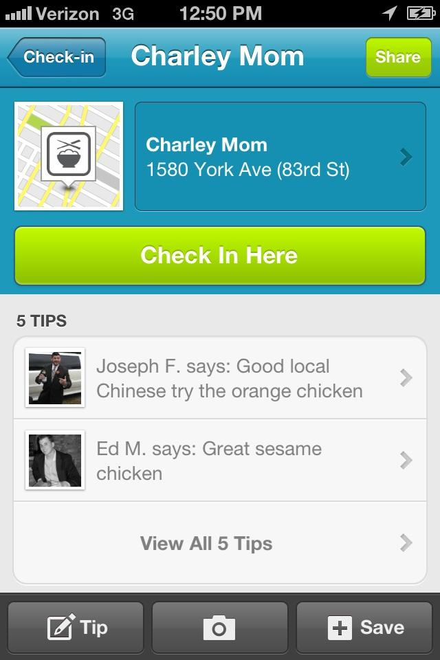 "This screen shot shows the Foursquare mobile site.  Foursquare is a social network that lets you tell friends and family where you are.   Through the smartphone app, you broadcast your whereabouts, or ""check in"" to those places.  (AP Photo/Foursquare)"