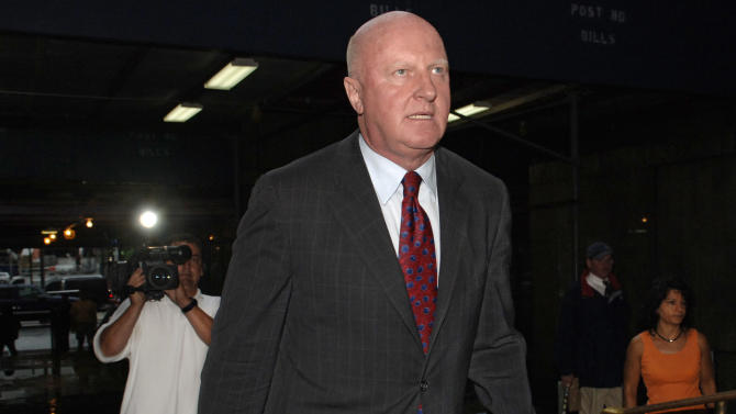 FILE - In this Friday, June 10, 2005, file photo, former Tyco International CEO L. Dennis Kozlowski enters Manhattan State Supreme Court, in New York. Kozlowski, convicted more than a decade ago in a notorious corporate fraud case that featured headline-grabbing tales of excessive spending, is now board chairman of a New York City nonprofit that helps ex-prisoners re-enter society, the group announced Tuesday, Feb. 9, 2016. (AP Photo/ Louis Lanzano, File)