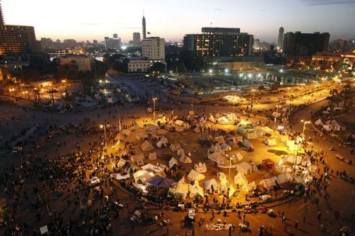<p>A general view of Egypt's landmark Tahrir Square as hundreds of opposition protesters gather to demonstrate against President Mohammed Morsi and the second round of the draft constitution referendum in Cairo on December 18, 2012. Egypt's chief public prosecutor on Thursday retracted his resignation, days after offering to step down following protests by prosecutors and judges.</p>