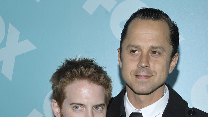 Actors Seth Green, left, and Giovanni Ribisi arrive at the 2013 FOX Programming Presentation Post Party at Wollman Rink in Central Park on Monday, May 13, 2013 in New York, New York. (Photo by Andrew Marks/Invision for FOX/AP Images)