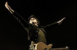 Green Day performs at Allstate Arena in Rosemont, Illinois.