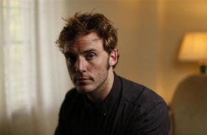 """British actor Sam Claflin poses for a portrait while promoting his upcoming movie """"The Quiet Ones"""" at Chateau Marmont in West Hollywood"""