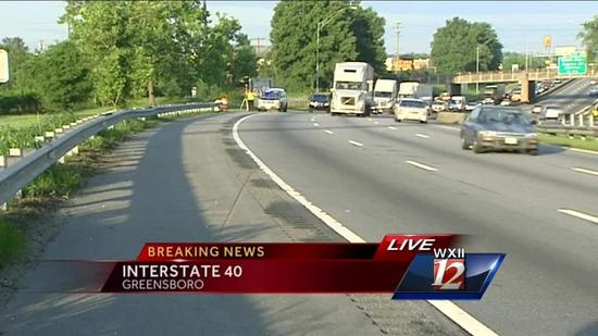 Pedestrian killed on I-40 Greensboro