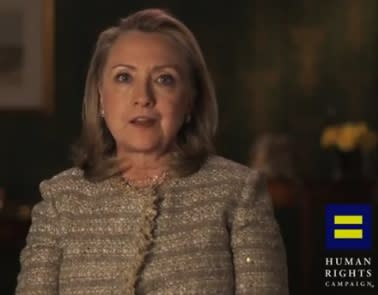 Hillary Clinton Endorses Gay Marriage (Video)
