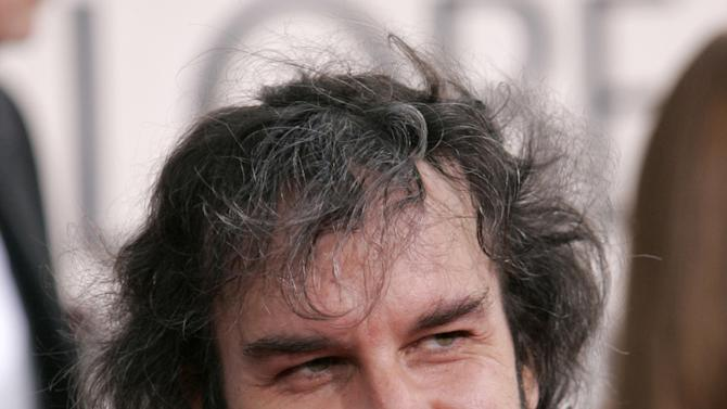 FILE - In this Jan. 16, 2006 file photo, film director Peter Jackson arrives for the Golden Globe Awards, in Beverly Hills, Calif. Jackson launched the Weta Digital studio in 1993 with fellow filmmakers Jamie Selkirk and Richard Taylor. Named after an oversized New Zealand insect, the company later was split into its digital arm and Weta Workshop, which makes props and costumes.  (AP Photo/Mark J. Terrill, File)