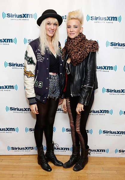 Miriam and Olivia visiting SiriusXM Studios, November 201