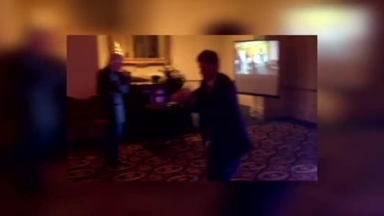 16 WAPT General Manager Stuart Kellogg dances at Christmas party