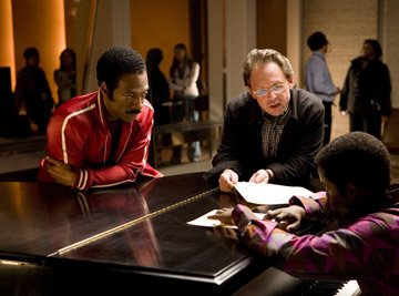Eddie Murphy , director Bill Condon and Keith Robinson on the set of DreamWorks Pictures' and Paramount Pictures' Dreamgirls