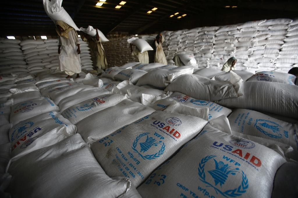 US aid ship docks with food for Sudan war zones