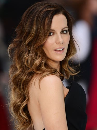 Long hair: Kate Beckinsale