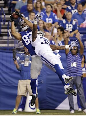 Giants rally late to get past Colts 27-26