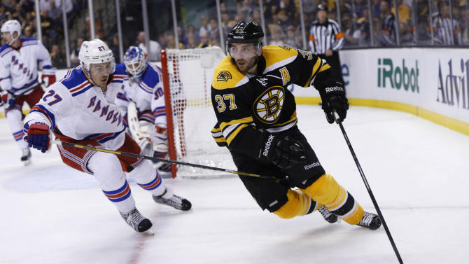 NHL: Stanley Cup Playoffs-New York Rangers at Boston Bruins