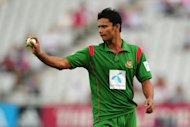 Mashrafe Mortaza provided some useful late runs for Bangladesh