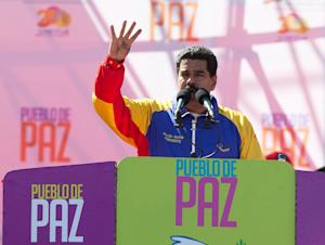 Venezuela's President Nicolas Maduro speaks during …