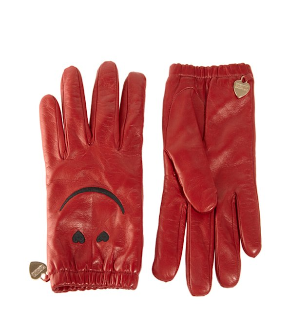 10 of the best Winter Warmers: Moschino's Cheap and Chic smiley red leather gloves are a must-have