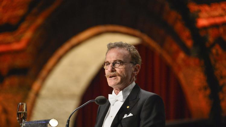 Nobel medicine laureate Schekman addresses the traditional Nobel gala banquet at the Stockholm City Hall