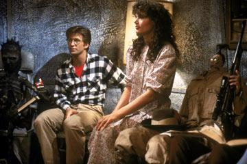 Alec Baldwin and Geena Davis in Geffen's Beetlejuice