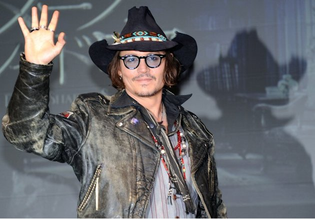 US actor Johnny Depp is pictured…