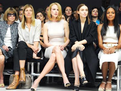 Nicole Kidman Sits Front Row at Calvin Klein