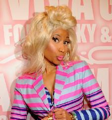 Nicki Minaj attends MAC Cosmetics celebrates the Viva Glam launch with Nicki Minaj and Ricky Martin at Stage 37, New York City, on February 15, 2012 -- WireImage