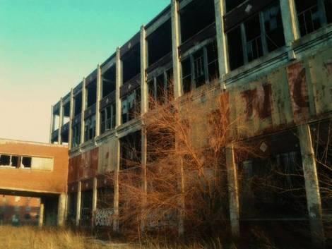 Nazi Sign Prompts Look at Run-Down Detroit Packard Plant