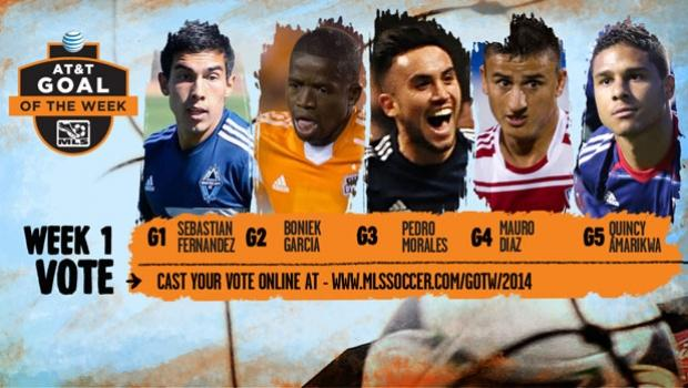 Vote now for 2014 AT&T MLS Goal of the Week: Week 1