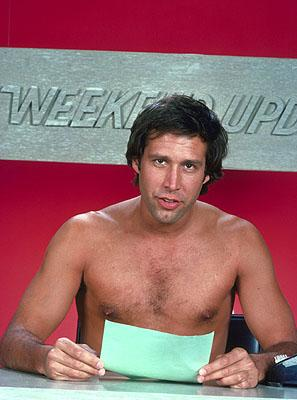 Chevy Chase as the original Weekend Update host on NBC's Saturday Night Live Saturday Night Live