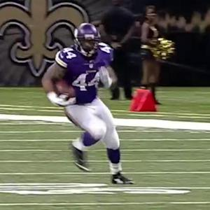 Minnesota Vikings QB Teddy Bridgewater 41-yard pass to Matt Asiata