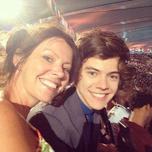 Harry Styles and mom Anne Cox at the Olympics together.