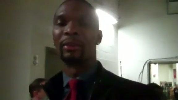 Bosh Arrives for All-Star Saturday Night